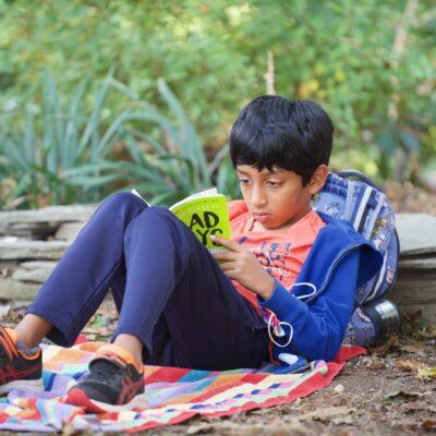 Little boy reading 10-2020