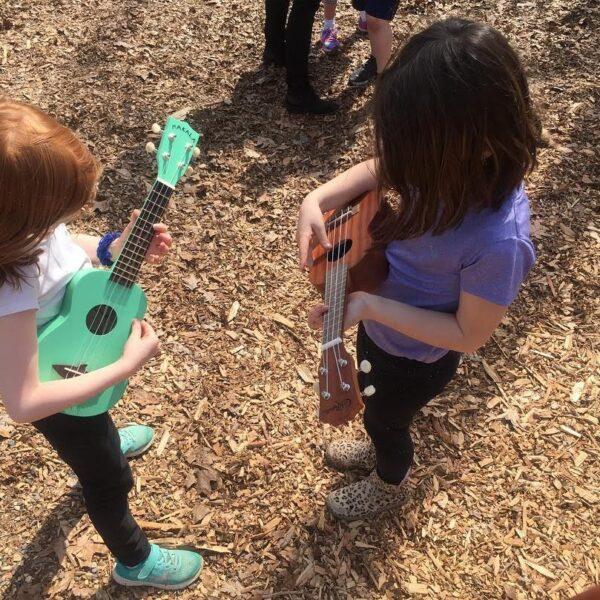 Two girls playing yukallies